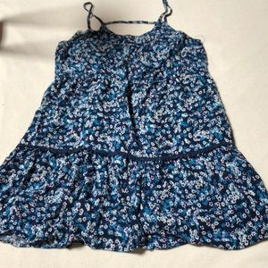 Blue & white Floral tank flowy dress
